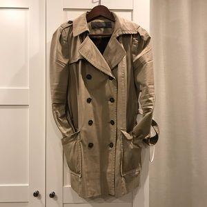 Zara Basic Trenchcoat in Beige Camel Size Large